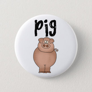 Pig Farm Animal 6 Cm Round Badge