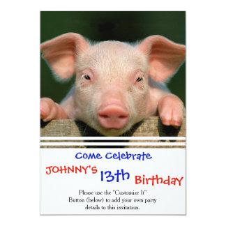 Pig farm - pig face card