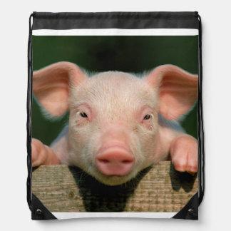 Pig farm - pig face drawstring bag