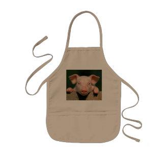 Pig farm - pig face kids apron
