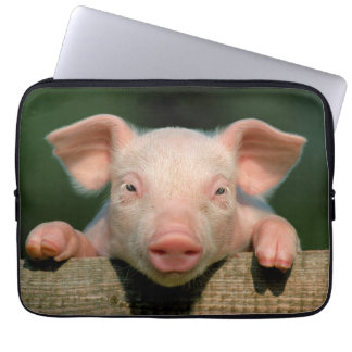 Pig farm - pig face laptop sleeve