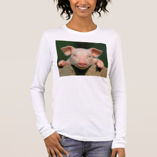 Pig farm - pig face long sleeve T-Shirt