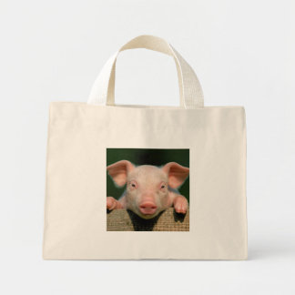Pig farm - pig face mini tote bag