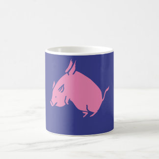 Pig fly coffee mug