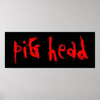 Pig head poster