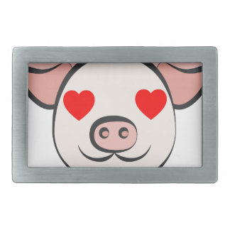 Pig Heart Emoji Belt Buckles