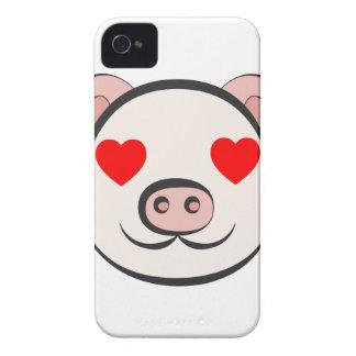 Pig Heart Emoji Case-Mate iPhone 4 Cases