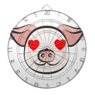 Pig Heart Emoji Dartboard