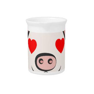 Pig Heart Emoji Pitcher