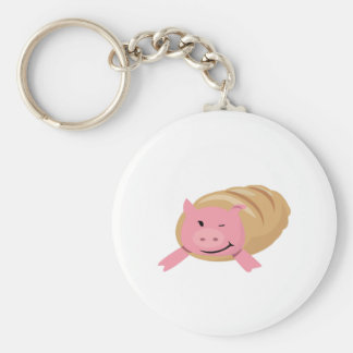 Pig In A Blanket Keychain