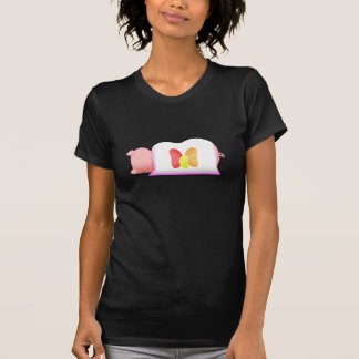 Pig In A Pink Blanket And Beans T-shirt