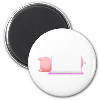Pig In A Pink Blanket Refrigerator Magnet