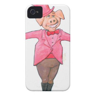 Pig in a Top Hat Case-Mate iPhone 4 Case