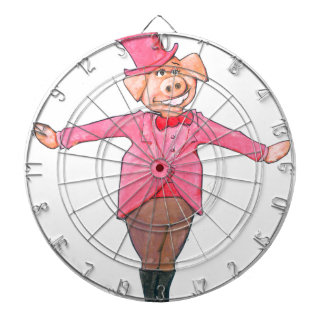 Pig in a Top Hat Dartboard