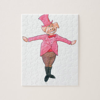 Pig in a Top Hat Jigsaw Puzzle