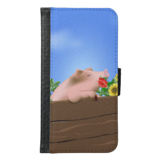 Pig In Pan Samsung Galaxy S6 Wallet Case