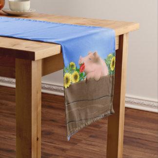 Pig In Pan Short Table Runner