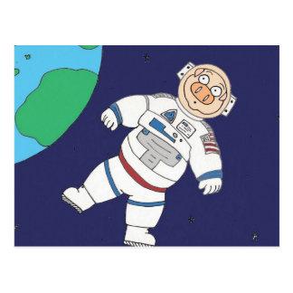 Pig In Space Postcard