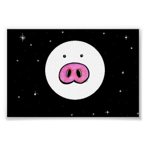 Pig in the Moon Poster