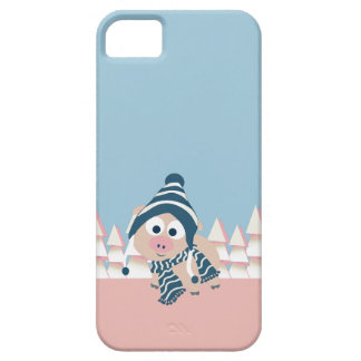 Pig in Winter iPhone 5 Covers