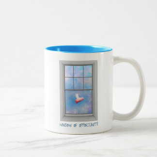 Pig is Flying-Window of Opportunity Two-Tone Coffee Mug
