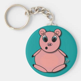 Pig KC Basic Round Button Key Ring
