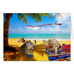 Pig Kind of Day Greeting Card