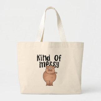 Pig Kind of Messy Jumbo Tote Bag