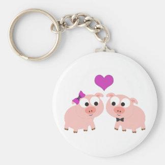 Pig love keychains