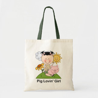 Pig Lovin' Girl Canvas Bags