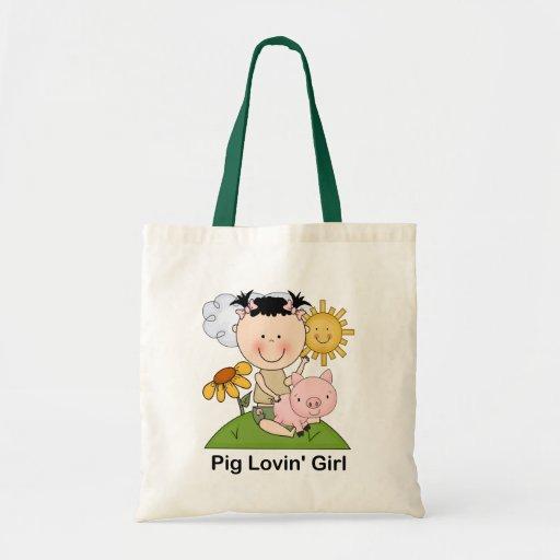 Pig Lovin' Girl Canvas Bags