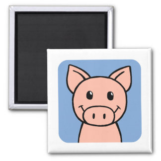 Pig Square Magnet
