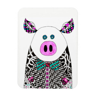 """Pig Magnet 3""""x4"""" (You can Customize)"""