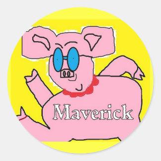 pig Maverick stickers