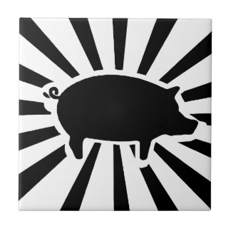 PIG ME - Rays of Pig Ceramic Tile