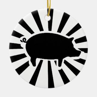 PIG ME - Rays of Pig Round Ceramic Decoration