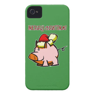 Pig Merry Christmas Blackberry Phone Case Case-Mate iPhone 4 Case