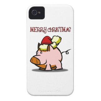 Pig Merry Christmas Blackberry Phone Case iPhone 4 Case