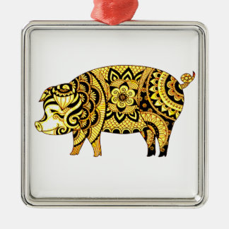 Pig Metal Ornament