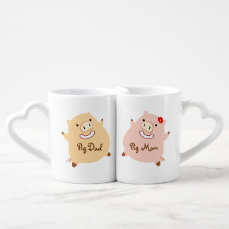 Pig Mom & Dad Matching Mugs