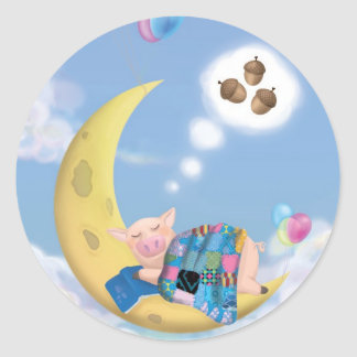 Pig on the moon - Sticker