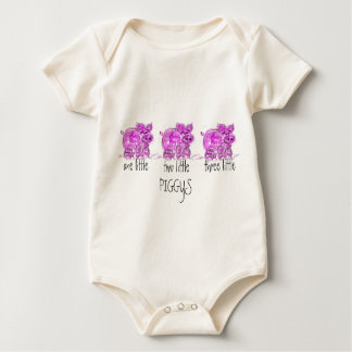 pig-one two three little... baby bodysuit