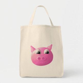 Pig Organic Grocery Tote Bag