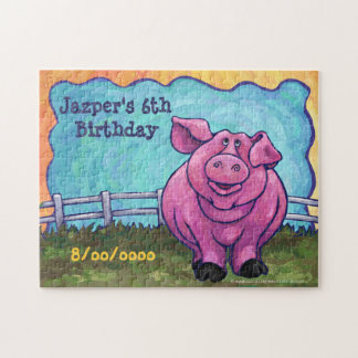Pig Party Center Jigsaw Puzzle