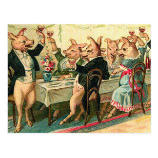 Pig Party Postcard