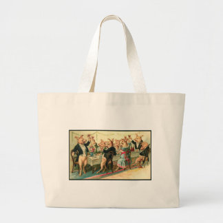 Pig Party Canvas Bags