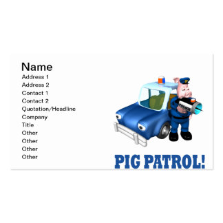 Pig Patrol Pack Of Standard Business Cards