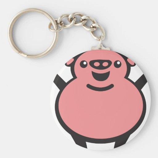 pig pig key chain