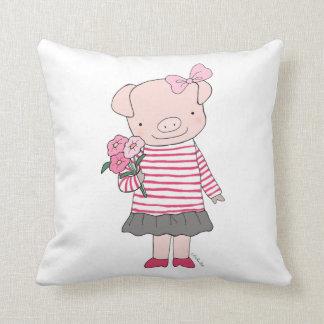 Pig Pillow Cute Pig Throw Pillow Happy Pig Cushion