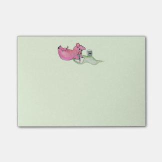 Pig Pin, Pig writes Notes Post-it